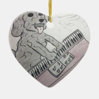 Welpenklavier Keramik Herz-Ornament