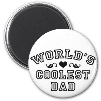 Welt am beststen - coolster Vati Runder Magnet 5,1 Cm