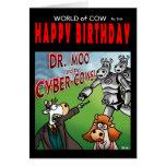 Welt der Kuhgeburtstagskarte - Dr. Moo