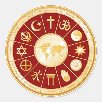 Welt des Glaubens Runder Aufkleber