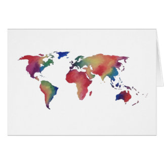 Welt in der Farbe Karte