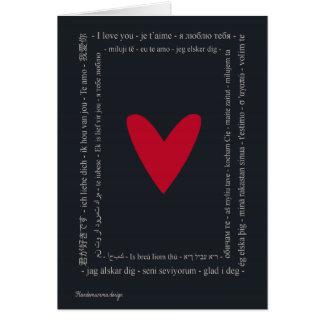 Welt in der Liebe - der glückliche Tag des Grußkarte