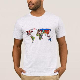 Welt kennzeichnet Karten-T - Shirt