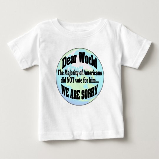 Welt sorry2 baby t-shirt