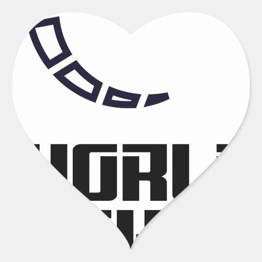Weltaushilfstag Herz Sticker