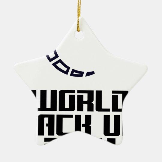 Weltaushilfstag Keramik Stern-Ornament
