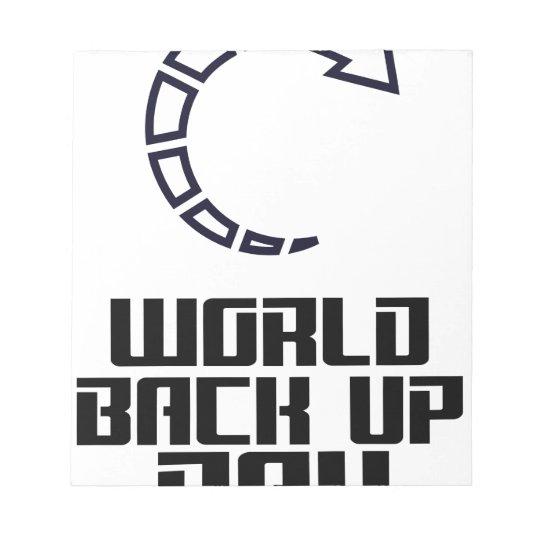 Weltaushilfstag Notizblock
