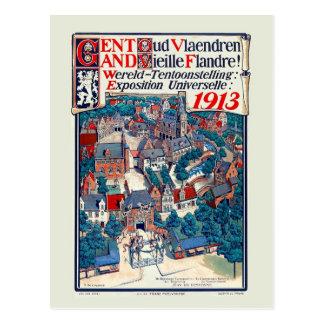 Weltausstellung 1913 Gent altes Flandern Postkarte