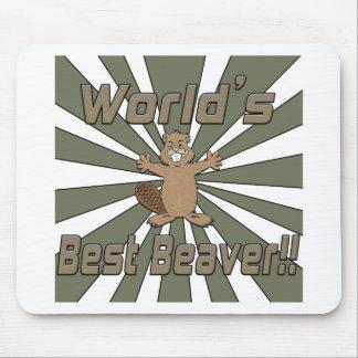 Weltbester Biber Mousepads