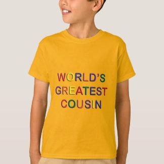 Weltbester Cousin scherzt GoldT - Shirt