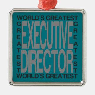 Weltbester Führungskraft-Direktor Silbernes Ornament