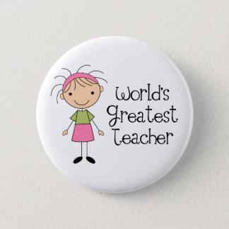 Weltbester Lehrer Runder Button 5,7 Cm