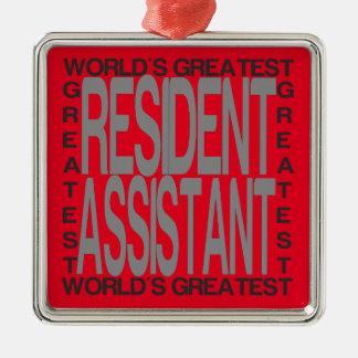 Weltbester Residentassistent Silbernes Ornament