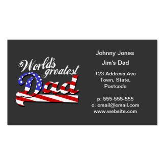 Weltbester Vati mit amerikanischer Flagge - Visitenkarten