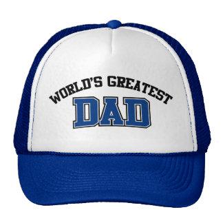 Weltbestes Vati-Hut-Blau Mützen