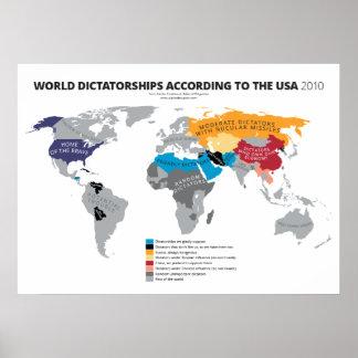 Weltdiktaturen entsprechend den USA Poster