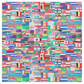 Weltflaggen-Collage Stoff