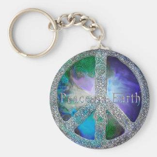 Weltfrieden 2012 standard runder schlüsselanhänger