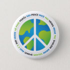 Weltfrieden Runder Button 5,7 Cm