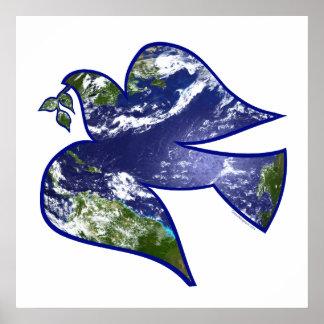 Weltfrieden-Taube Posterdrucke