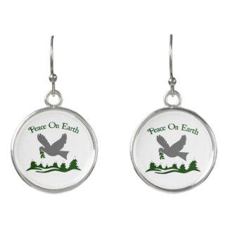 Weltfrieden-Tauben-Feiertags-Ohrringe Ohrringe