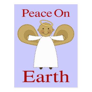 Weltfrieden-Weihnachtsengels-Postkarte Postkarte