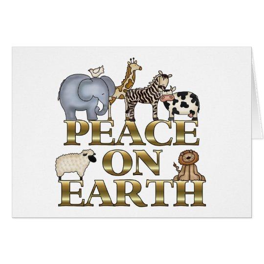 Weltfrieden-Weihnachtskarte Grußkarte