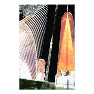 Welthandels-Mitte Freiheits-Turm-New York früher Briefpapier