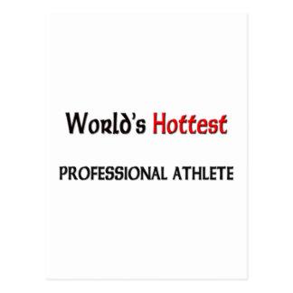 Weltheißester beruflicher Athlet Postkarte