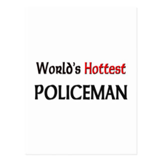 Weltheißester Polizist Postkarte