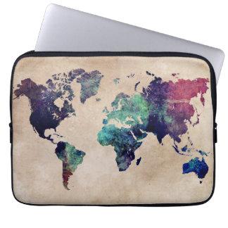 Weltkarte 10 laptopschutzhülle