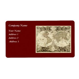 Weltkarte 1708 durch Jean Baptiste Nolin