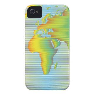 Weltkarte der Regenbogenbänder Case-Mate iPhone 4 Hülle