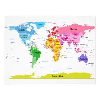 Weltkarte Kunstphotos