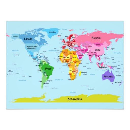 Weltkarte Kunstfoto