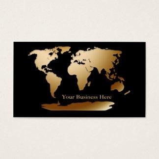 Weltkarte-Gold/schwarze Visitenkarte 3