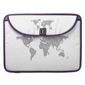 Weltkarte MacBook Pro Sleeve
