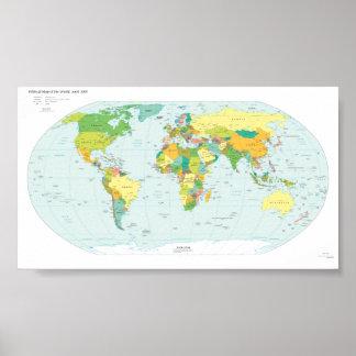 Weltkarte Plakatdrucke