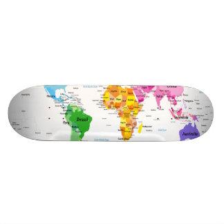 Weltkarte Personalisierte Skateboarddecks