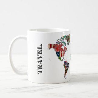 Weltkarten-Reise-Tasse Kaffeetasse