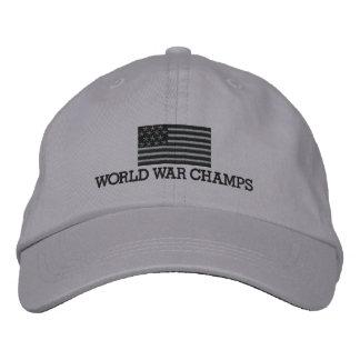 Weltkrieg-Champions - grau und schwarze Baseballmütze