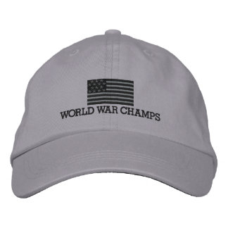Weltkrieg-Champions - grau und schwarze Bestickte Kappe
