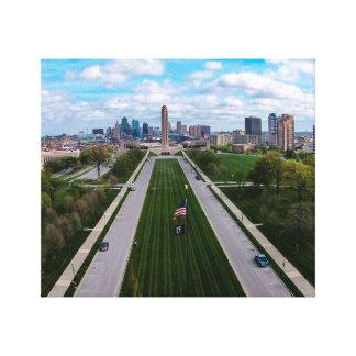 Weltkrieg-Freiheit Erinnerungskansas city Missouri Leinwanddruck