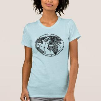 Weltkugel Afrika asiatisch-europäisch T-Shirt