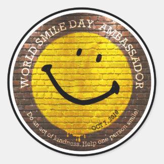 Weltlächeln Day® 2016 Aufkleber