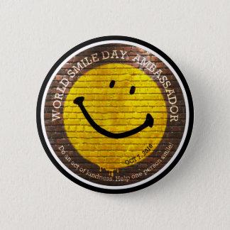 Weltlächeln Day® Botschafter 2016 Knopf Runder Button 5,1 Cm
