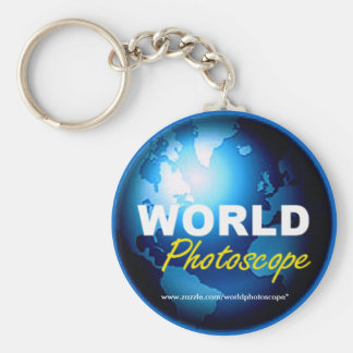 WeltPhotoscope Logo Keychain Standard Runder Schlüsselanhänger