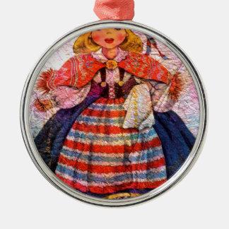 WELTpuppe SWEEDISH Rundes Silberfarbenes Ornament