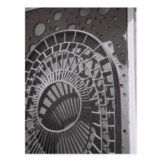 Weltraumzeitalter-Tür Postkarten