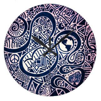 Weltreise-Uhr Große Wanduhr